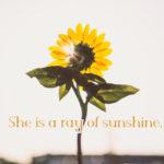 She is a ray of sunshine の意味とは?ネイティブが解説するよ!