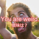 weird / weirdo の意味と使い方は?発音付き例文で解説